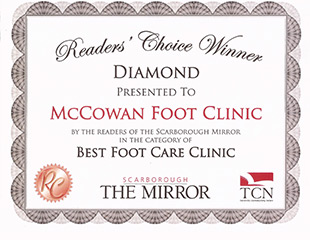 Diamond Award in the category of best foot care clinic
